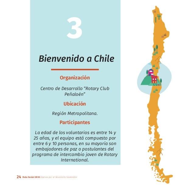 """24 Ruta Social 2030 Jóvenes por el Desarrollo Sostenible 3 Bienvenido a Chile Organización Centro de Desarrollo """"Rotary Cl..."""