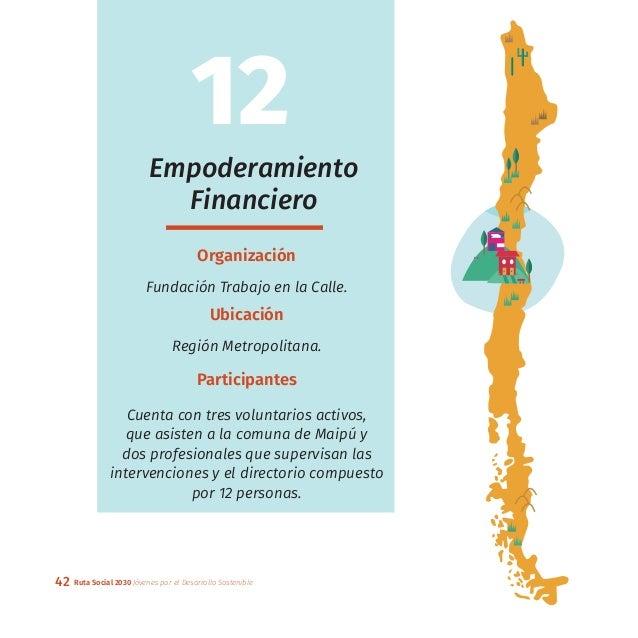 42 Ruta Social 2030 Jóvenes por el Desarrollo Sostenible Empoderamiento Financiero Organización Fundación Trabajo en la Ca...