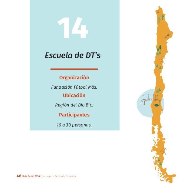 46 Ruta Social 2030 Jóvenes por el Desarrollo Sostenible Escuela de DT's Organización Fundación Fútbol Más. Ubicación Regi...
