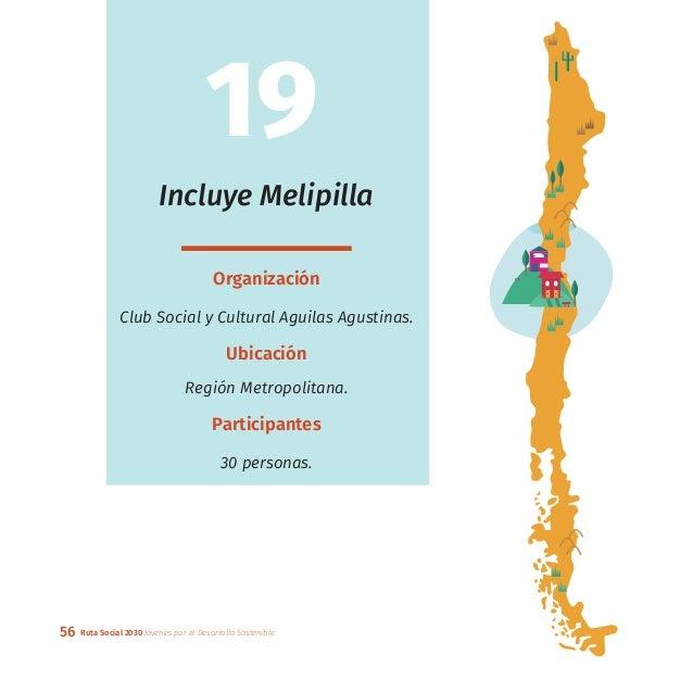 56 Ruta Social 2030 Jóvenes por el Desarrollo Sostenible Incluye Melipilla Organización Club Social y Cultural Aguilas Agu...