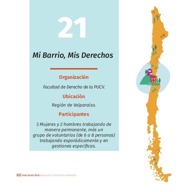 60 Ruta Social 2030 Jóvenes por el Desarrollo Sostenible Mi Barrio, Mis Derechos Organización Facultad de Derecho de la PU...