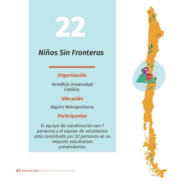 62 Ruta Social 2030 Jóvenes por el Desarrollo Sostenible Niños Sin Fronteras Organización Pontificia Universidad Católica....