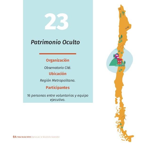 64 Ruta Social 2030 Jóvenes por el Desarrollo Sostenible Patrimonio Oculto Organización Observatorio Cité. Ubicación Regió...