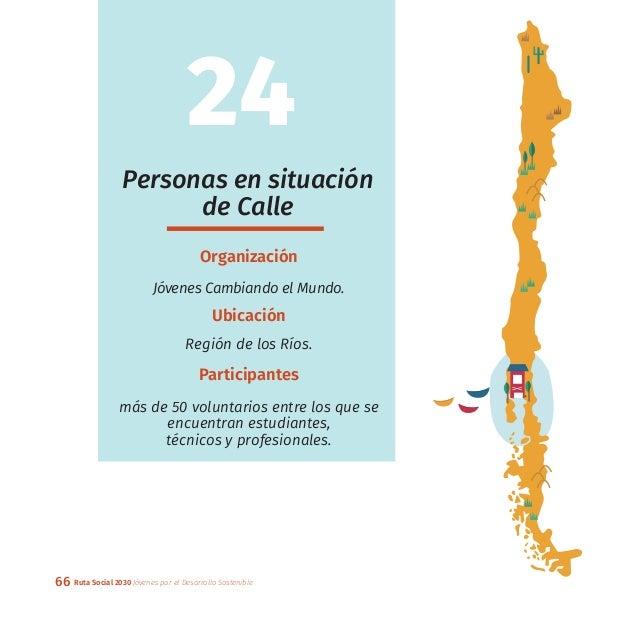 66 Ruta Social 2030 Jóvenes por el Desarrollo Sostenible Personas en situación de Calle Organización Jóvenes Cambiando el ...