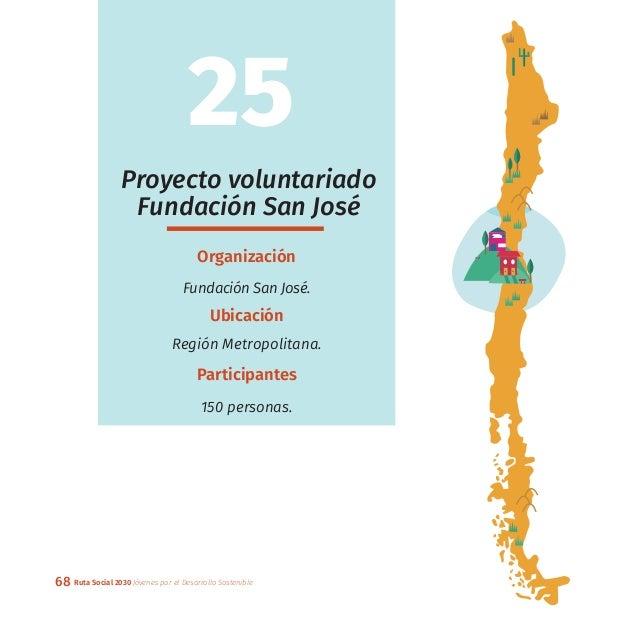68 Ruta Social 2030 Jóvenes por el Desarrollo Sostenible Proyecto voluntariado Fundación San José Organización Fundación S...