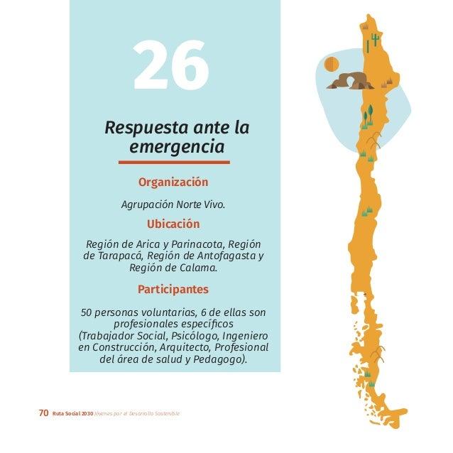70 Ruta Social 2030 Jóvenes por el Desarrollo Sostenible Respuesta ante la emergencia Organización Agrupación Norte Vivo. ...