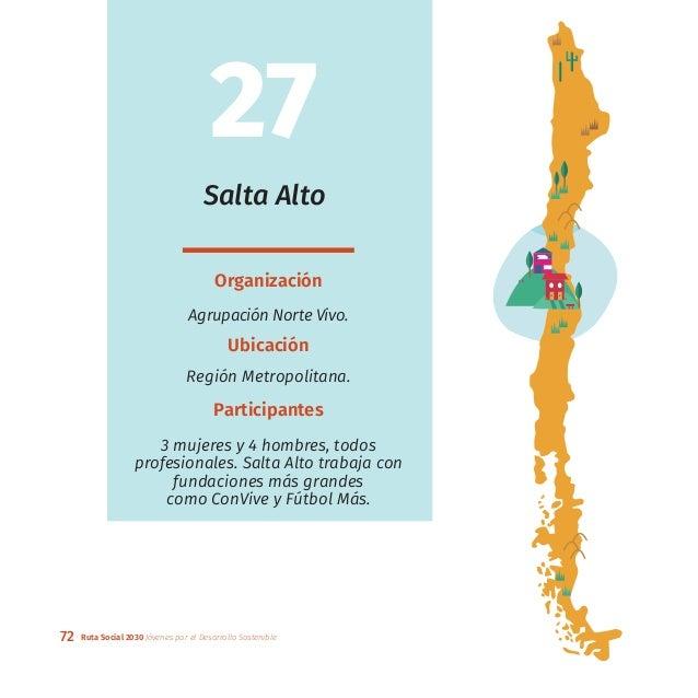 72 Ruta Social 2030 Jóvenes por el Desarrollo Sostenible Salta Alto Organización Agrupación Norte Vivo. Ubicación Región M...