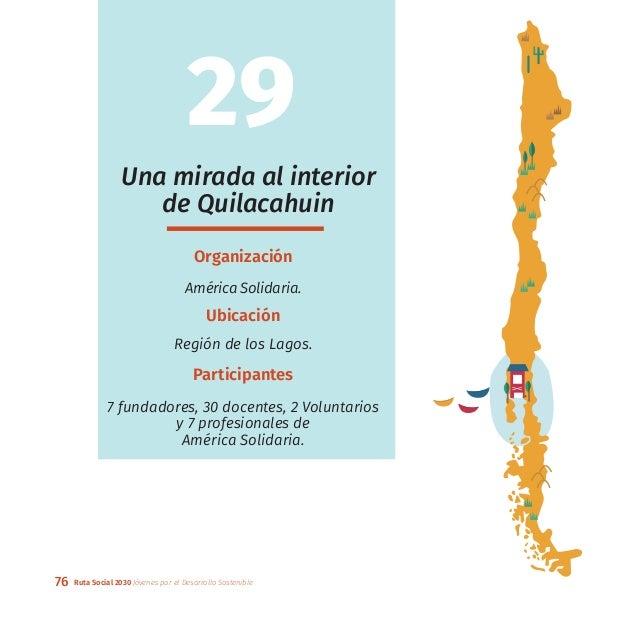 76 Ruta Social 2030 Jóvenes por el Desarrollo Sostenible Una mirada al interior de Quilacahuin Organización América Solida...