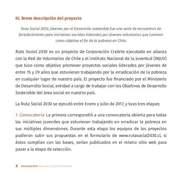 8 Ruta Social 2030 Jóvenes por el Desarrollo Sostenible III. Breve descripción del proyecto Ruta Social 2030, Jóvenes por ...