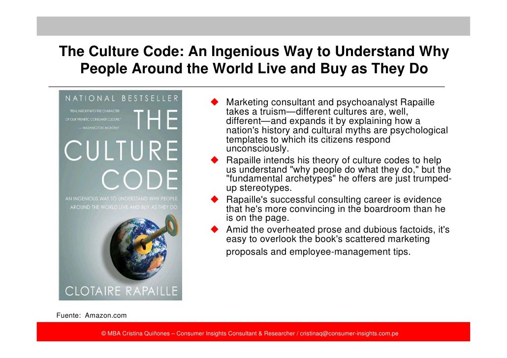 """cultural codes """"cultural code is a revelation: who would have guessed video games could shed so much light on culture, history, politics, and current affairs the reader is in for a treat: penix-tadsen's highly readable yet theoretically sophisticated book includes sections on drug traffickers and the gamers who love them border tensions and their on."""