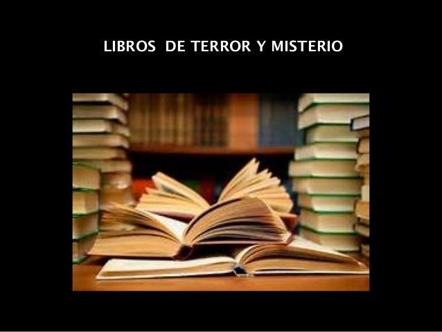 LIBROS DE TERROR Y MISTERIO