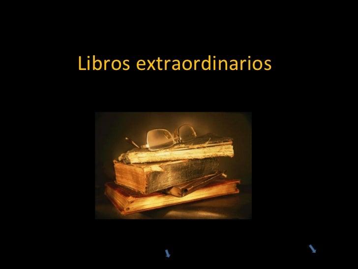 Libros extraordinarios por Javier