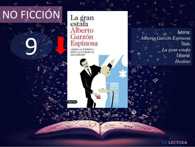 NO FICCIÓN                              Autores:   9             Alberto Garzón Espinosa                                 T...