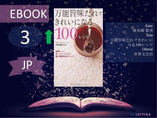EBOOK  3  Autor: 検見崎 聡美 Título: 万能旨味だれできれいに なる100レシピ Editorial: 世界文化社  JP  De lectura