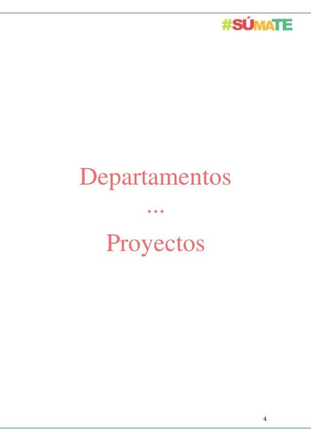 Departamentos ··· Proyectos  4