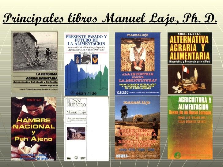 Principales libros Manuel Lajo, Ph. D.