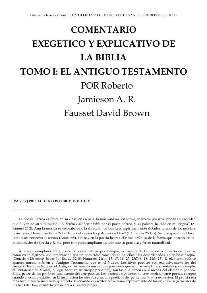 Falconeris.blogspot.com   : LA GLORIA DEL DIOS 3 VECES SANTO: LIBROS POETICOS                                          COM...