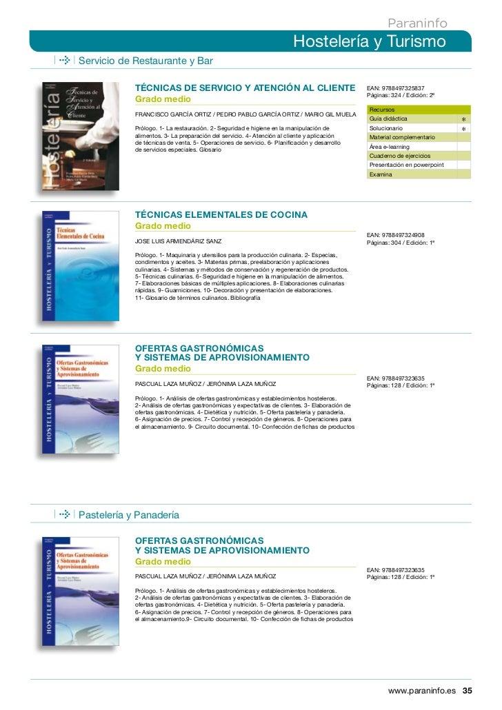 Libros sobre hoteleria turismo y cocina Procesos de cocina jose luis armendariz