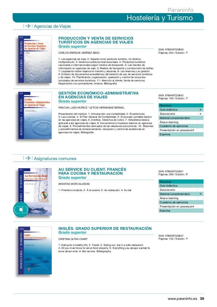 Libros sobre hoteleria turismo y cocina - Grado superior cocina ...