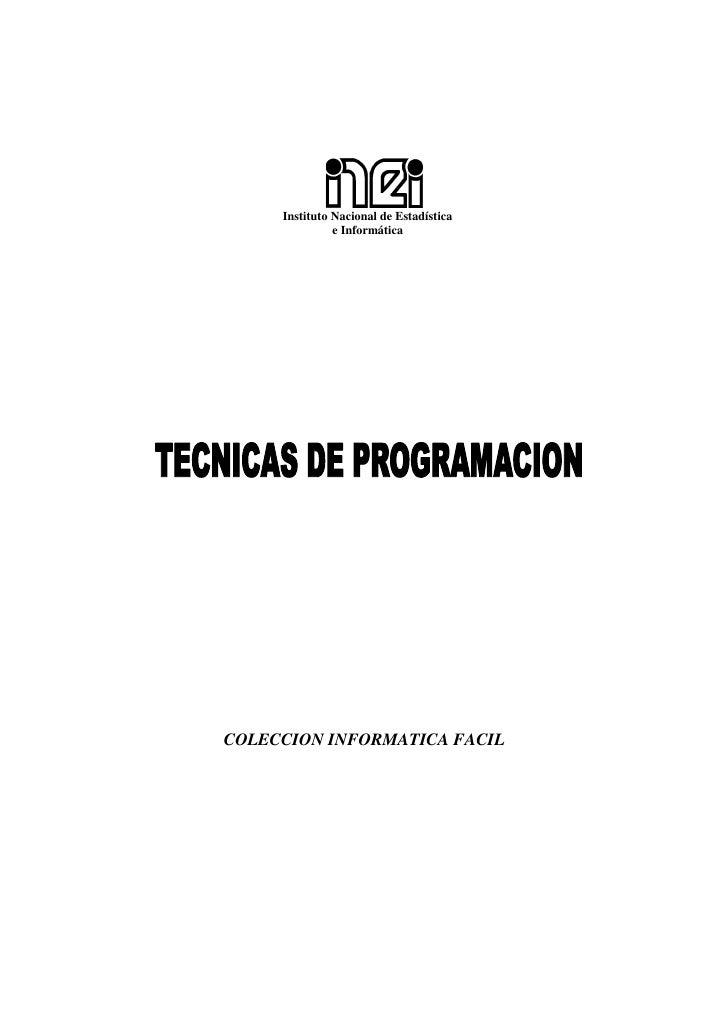 Instituto Nacional de Estadística               e InformáticaCOLECCION INFORMATICA FACIL