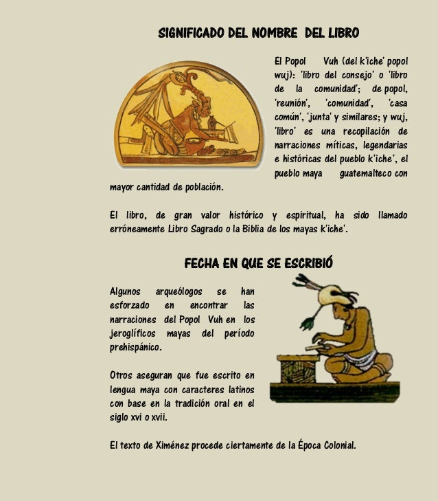Análisis Literario Del Libro El Popol Vuh