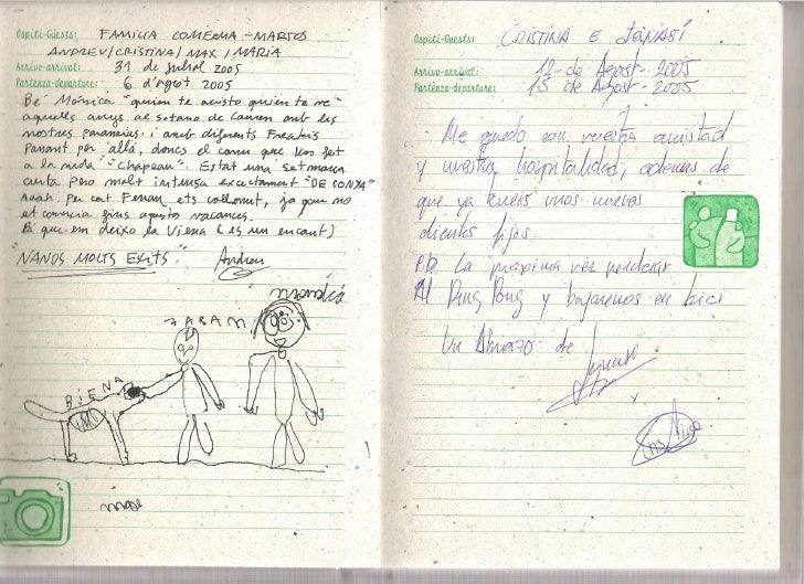 Libro Visitas de Mas Carlons