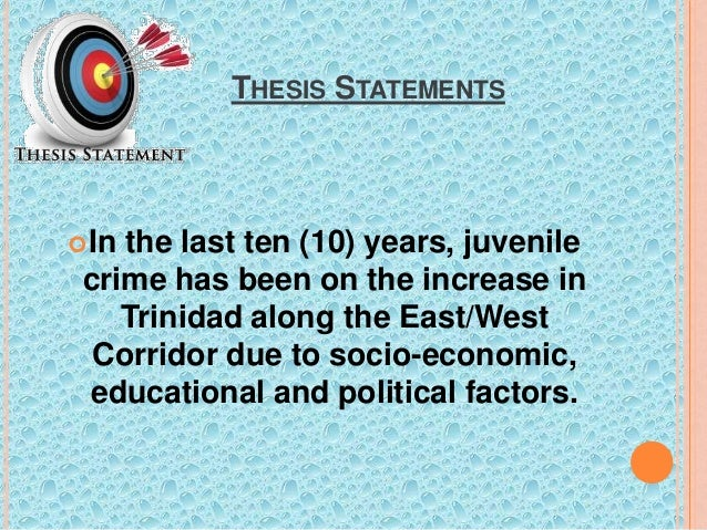 juvenile justice thesis statement