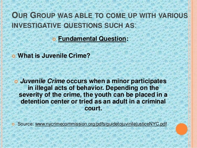 Essay on juvenile crime