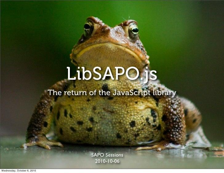 Libsapojs return