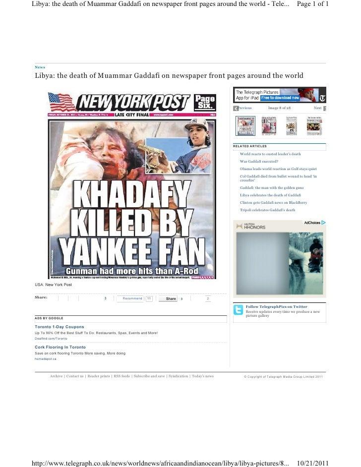 Libya gaddafi newspaper 3