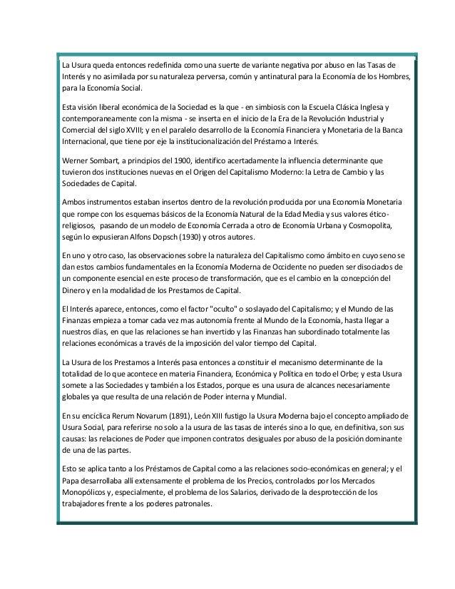 Replanteo de la cuestión de la usura- Lic. héctor l. giuliano