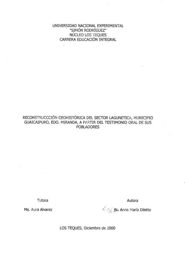 Recontsrucción Geohistórica de LaguneticaLic.Ana Diletto tesis
