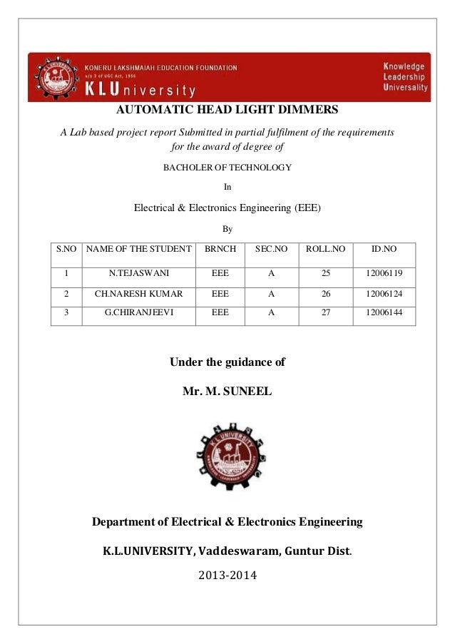 automatic head light dimmersThe Resistor Dimmer Circuit Backward Workshop #21