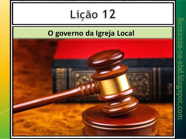 O governo da Igreja Local