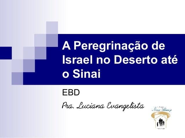 A Peregrinação de Israel no Deserto até o Sinai EBD Pra. Luciana Evangelista