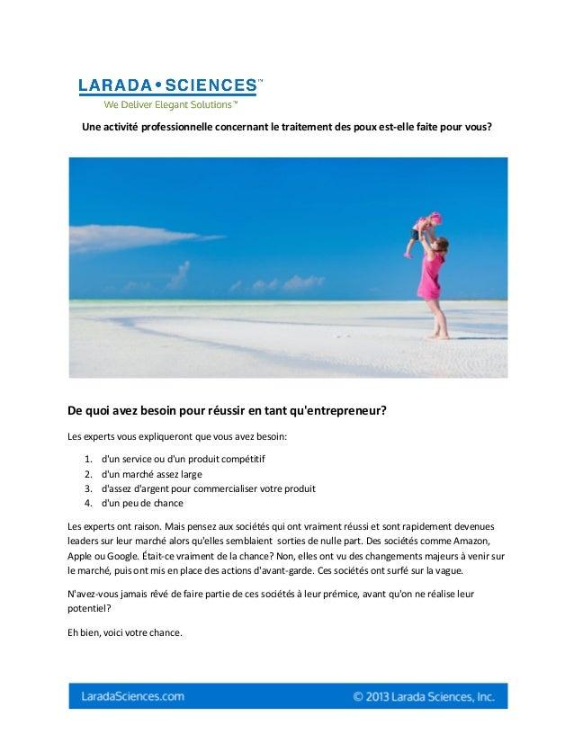 Une activité professionnelle concernant le traitement des poux est-elle faite pour vous?De quoi avez besoin pour réussir e...