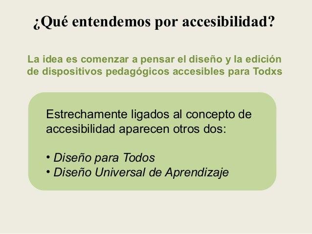 Qu entendemos por accesibilidad for Que es accesibilidad