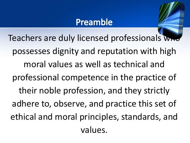 teachers ethical conduct toward practices and performance Teachers' code of ethics and practice the council for the teaching profession in malta 2012 ministry of education and employment.