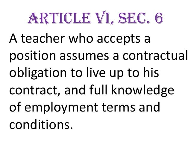 Code Of Ethics For Professional Teachers Pursuant To The Provisions Paragraph E Article 11 R A No
