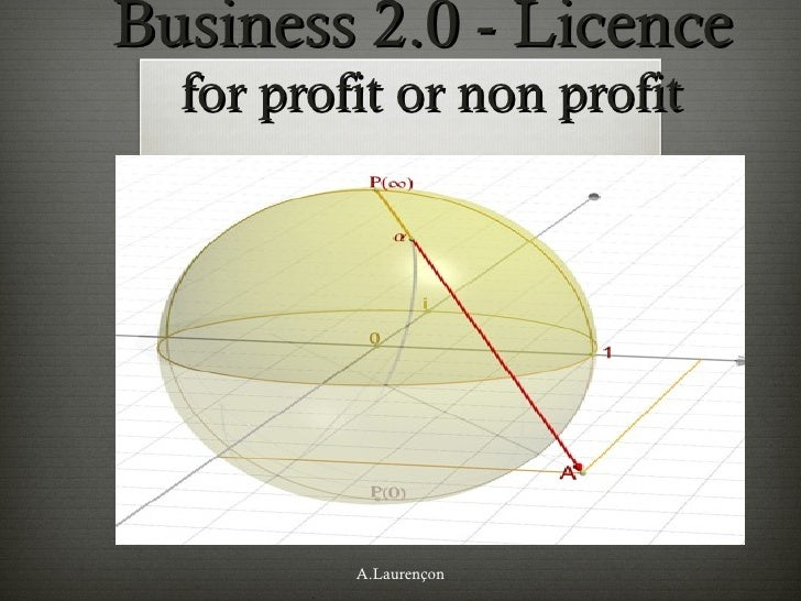 Business 2.0 - Licence  for profit or non profit A.Laurençon