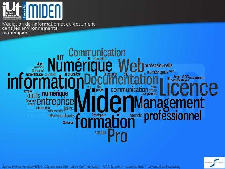 LP MIDENLicence ProfessionnelleRESSOURCES DOCUMENTAIRES ET BASES DE DONNEES Médiation de l'Information et du Documentdans ...