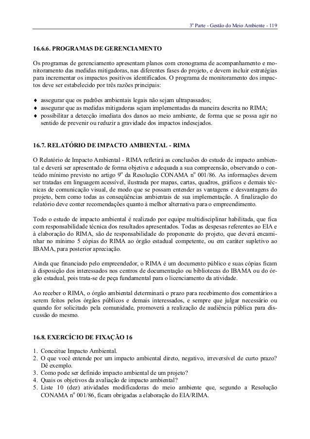 3aParte - Gestão do Meio Ambiente - 11916.6.6. PROGRAMAS DE GERENCIAMENTOOs programas de gerenciamento apresentam planos c...