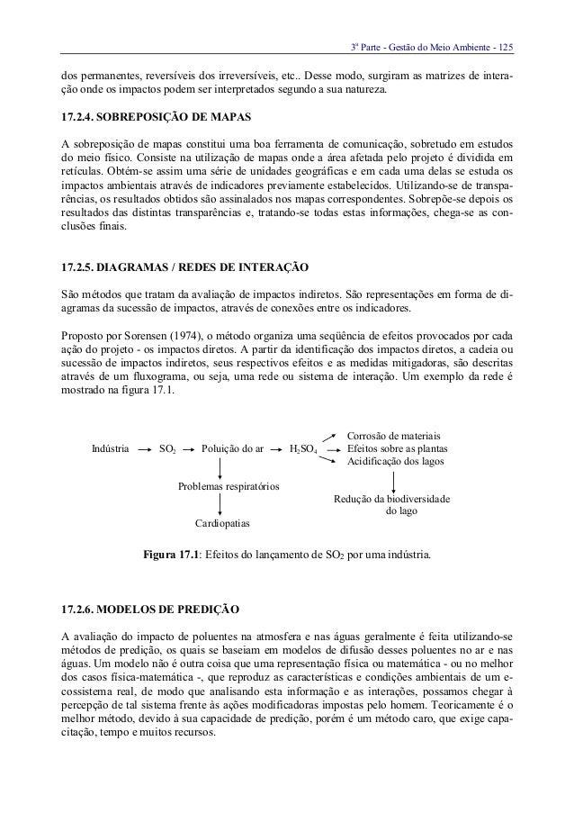 3aParte - Gestão do Meio Ambiente - 125dos permanentes, reversíveis dos irreversíveis, etc.. Desse modo, surgiram as matri...
