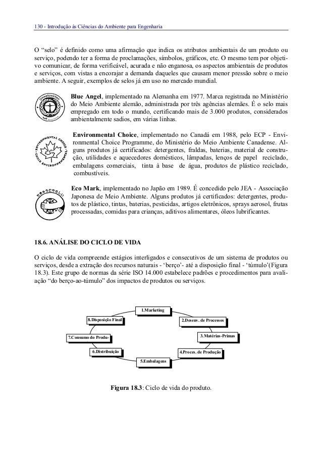 """130 - Introdução às Ciências do Ambiente para EngenhariaO """"selo"""" é definido como uma afirmação que indica os atributos amb..."""