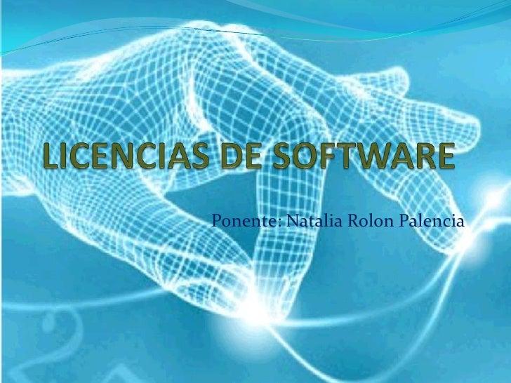 Ponente: Natalia Rolon Palencia