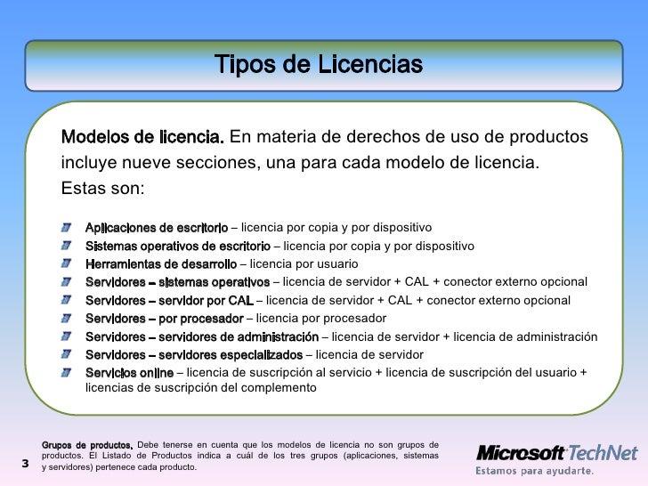Licencias microsoft actualizacion2009 for Tipos de licencias para bares