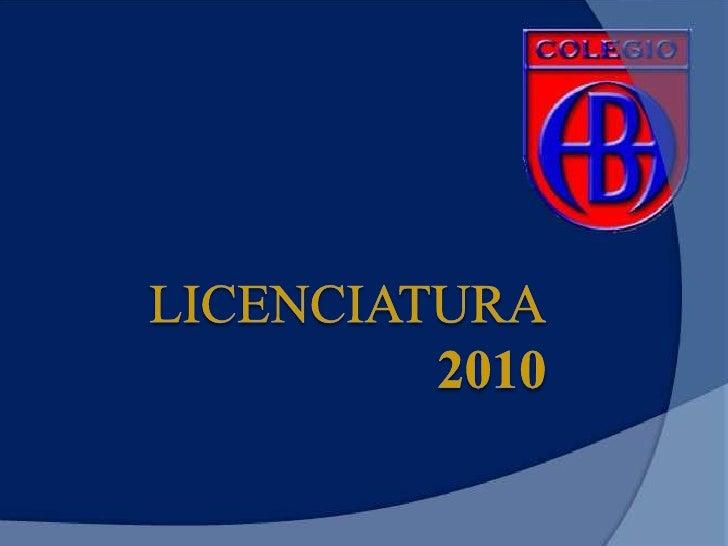 Licenciatura 2010<br />