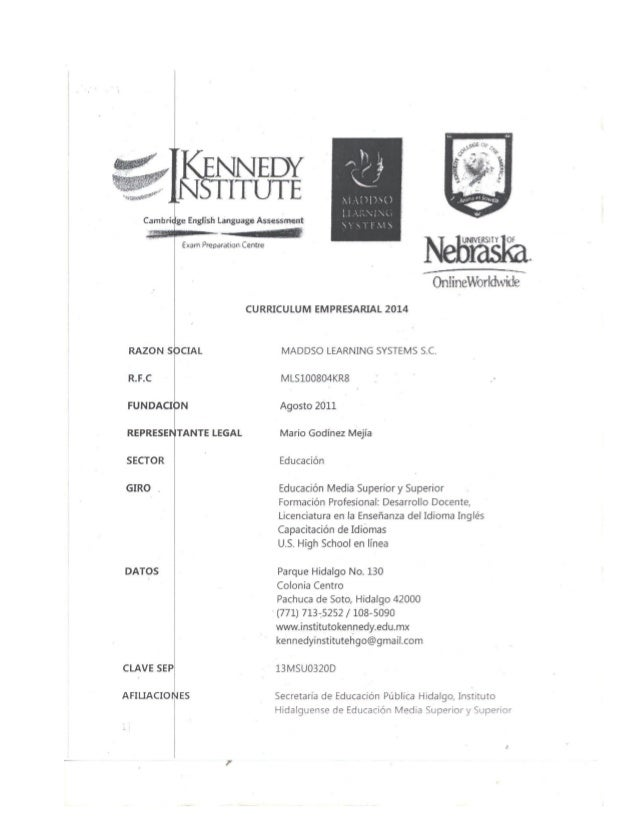 Cambridge English Lang  RAZON SOCIAL  ¡zaga Assessment  Eran-i Preparacion Centre     OniineWorldivide  CURRICULUM EMPRESA...