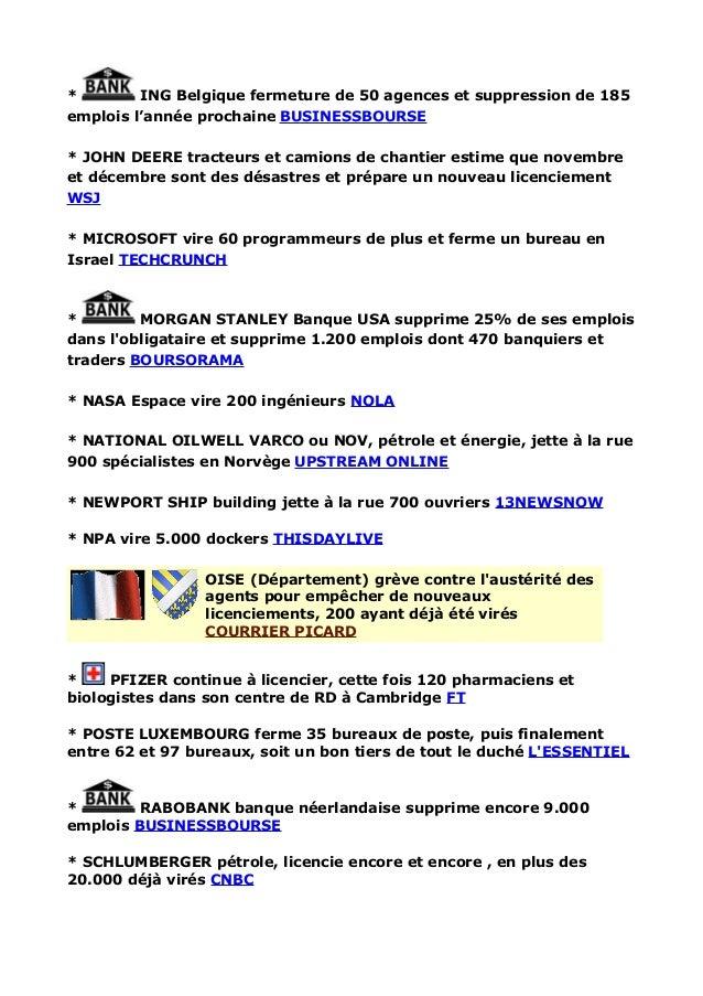 Licenciements Et Faillites D Entreprises En France Et