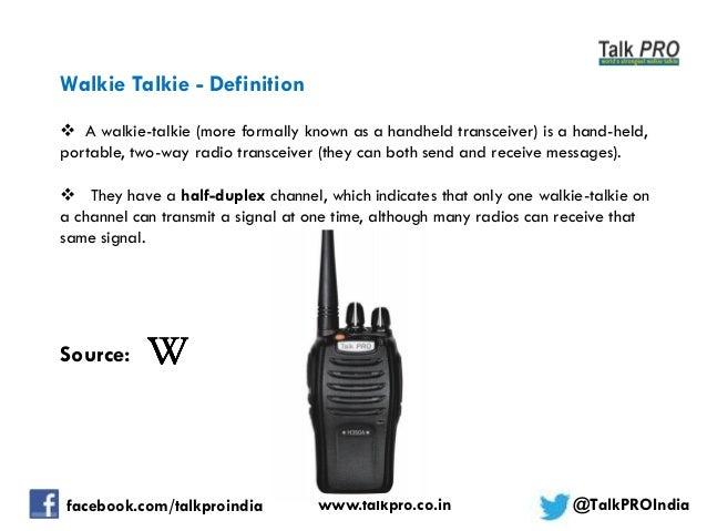 Walkie Talkie License In India